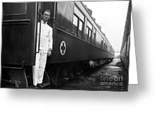 Ww I: Red Cross Railroad Greeting Card