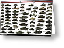 Ww2 British Tanks Greeting Card