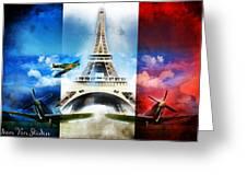 Ww2 France Greeting Card