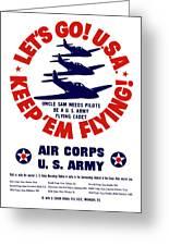 Us Army Air Corps - Ww2 Greeting Card