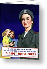 Ww2 Us Cadet Nurse Corps Greeting Card