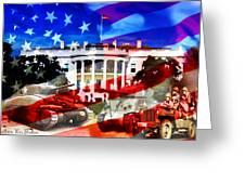 Ww2 Usa White House Greeting Card