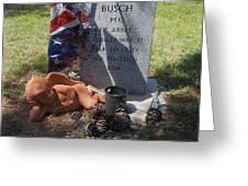 Ww2 Veterans Grave Mountain View Cemetery Casa Grande, Arizona 2004 Greeting Card