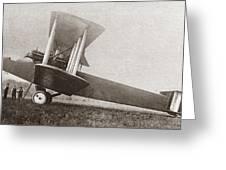 Wwi: British Bomber Greeting Card