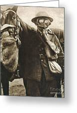Wwi: Gas Warfare Greeting Card