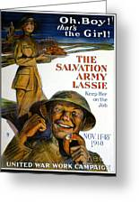 Wwi Poster Greeting Card