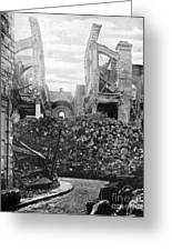 Wwi, Ruins Of Arras Cathedral Greeting Card