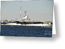 Wwii Aircraft Carrier Uss Yorktown Greeting Card