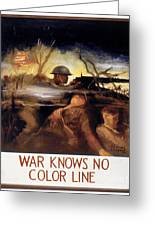 Wwii: Color Line Poster Greeting Card