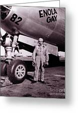 Wwii, Paul Tibbetts, Usaf Officer Greeting Card