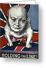 Wwii:churchill Poster 1942 Greeting Card