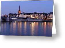 Wyck In Maastricht In The Evening Greeting Card