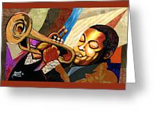 Wynton Marsalis Greeting Card by Everett Spruill