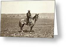 Wyoming: Cowboy, C1883 Greeting Card