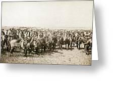 Wyoming: Cowboys, C1883 Greeting Card