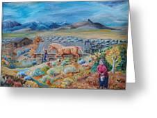Wyoming Ranch Scene Greeting Card