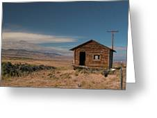 Wyoming Shack Greeting Card