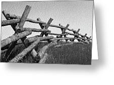 Wyoming Snow Fence Greeting Card