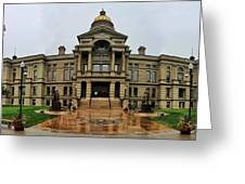 Wyoming State Capital Building  Greeting Card