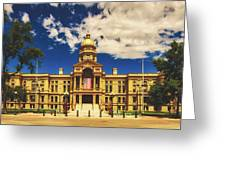 Wyoming State Capitol - Cheyenne Greeting Card