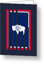 Wyoming State Flag Graphic Usa Styling Greeting Card