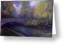 Wyomissing Creek Misty Morning Greeting Card
