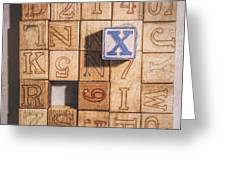 X Blocks Greeting Card