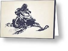 X Games Snowmobile Racing 2 Greeting Card