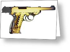 X-ray Art Of Walther P38 No. 4 Greeting Card