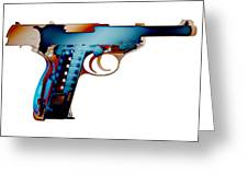X-ray Art Of Walther P38 No.2 Greeting Card