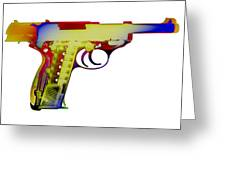 X-ray Art Of Walther P38 Greeting Card