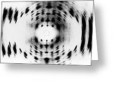 X-ray Diffraction Image Of Dna Greeting Card