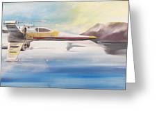 X Wing Fighter Greeting Card