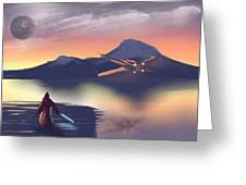 X-wing On The Horizon Greeting Card