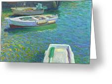 Xabia Harbour With Fishing Boats Greeting Card