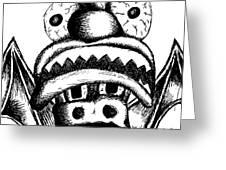 Xavier's Clown Hat Greeting Card