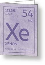 Xenon Xe Element Symbol Periodic Table Series 054 Greeting Card
