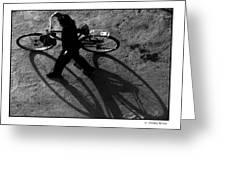 Xian Bike Lines Greeting Card