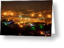 Xian City Lights Greeting Card