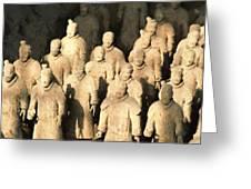 Xian Terracotta Warriors Greeting Card