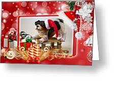 Xmas Dog Greeting Card