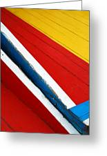 Xochimilco Boat Abstract 1 Greeting Card
