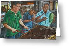 Xylophone Players Greeting Card by Jim Barber Hove