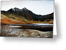 Y Lliwedd Ridge From Lake Llyn Llydaw Greeting Card