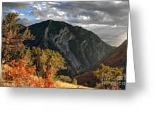Y Mountain Above Provo Utah At Sunset Greeting Card