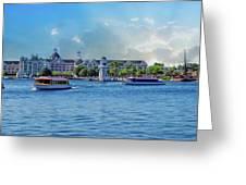 Yacht And Beach Club Walt Disney World Greeting Card