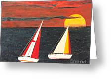 Yacht Racing Greeting Card