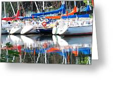 Yachts At Rest Greeting Card