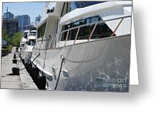 Yachts In The City Greeting Card