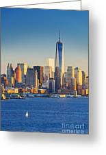 Yachts On The Hudson River, New York Greeting Card
